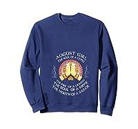 August Girl The Soul Of A Gypsy T Shirt August Girl Birthday T Shirt Sweatshirt Navy