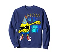 Cool Dancing Dabbing Emoji Mom Of Birthday Boy Party Shirts Sweatshirt Navy