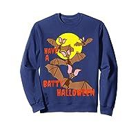 Have A Batty Halloween Happy Halloween Shirts Sweatshirt Navy