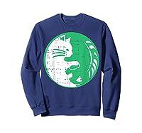 Area 51 Alien Cat Yin Yang Easy Lazy Kitten Halloween Gift Shirts Sweatshirt Navy