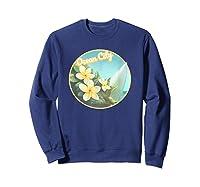 Ocean City Maryland Surfing Flower T Shirt Sweatshirt Navy