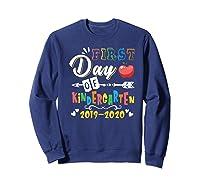 First Day Of Kindergarten Cute Gift For Teas Shirts Sweatshirt Navy