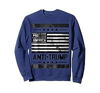 Pro America Anti Trump 4th Of July Impeach Trump T Shirt Sweatshirt Navy