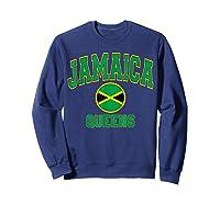 Ny Varsity Style N Flag Circle T Shirt Sweatshirt Navy