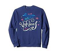 Happy Veteran's Day Patriot Military Memorial Gift Tee Premium T-shirt Sweatshirt Navy