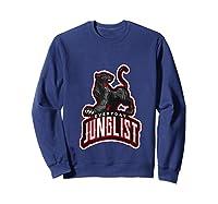 Junglist Dnb Drum And Bass Rave Panther Zip Shirts Sweatshirt Navy