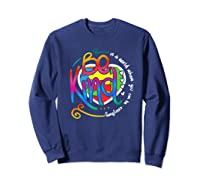 In A World Where You Can Be Anything Be Kind Autism Premium T-shirt Sweatshirt Navy