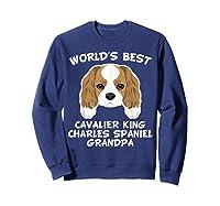S World's Best Cavalier King Charles Spaniel Grandpa T-shirt Sweatshirt Navy
