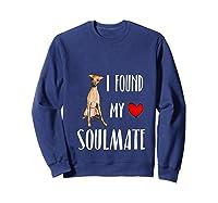 I Found My Soulmate Italian Greyhound Dog Lover Best Friend T-shirt Sweatshirt Navy