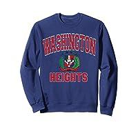 Washington Heights Dominican Flag Shield Varsity Style T Shirt Sweatshirt Navy