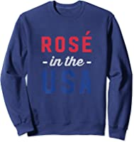 Rose In The Usa Cute 4th Of July T-shirt Sweatshirt Navy