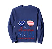 All American Mom 4th Of July Sunglasses Matching Family Tank Top Shirts Sweatshirt Navy