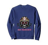 San Francisco Football Helmet Sugar Skull Day Of The Dead T Shirt Sweatshirt Navy