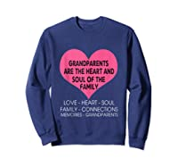 Grandparents Are The Heart And Soul Of The Family Tshirt Tank Top Sweatshirt Navy