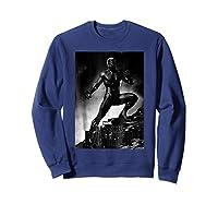 Black Panther Movie Shadow Cliff Stance Shirts Sweatshirt Navy