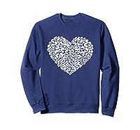 Heart Of Skulls Funny Valentine S Day T Shirt Sweatshirt Navy
