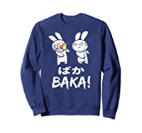 Anime Japanese Baka Rabbit Slap Manga T Shirt Gift Funny T Shirt Sweatshirt Navy