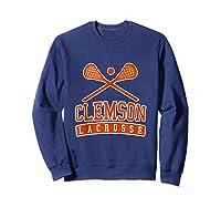 Vintage Clemson Lacrosse Shirts Sweatshirt Navy