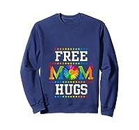 Free Mom Hugs Cute Flower Pride Lgbt Month 2019 Gift Shirts Sweatshirt Navy