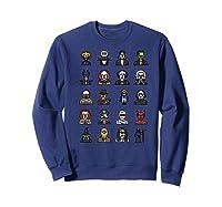 Friends Cartoon Halloween Character Scary Horror Movies Premium T Shirt Sweatshirt Navy
