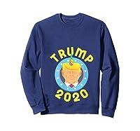 Funny Unicrontrump 2020 Election Usa Flag Republican Gift T Shirt Sweatshirt Navy