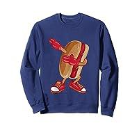 Dabbing Hot Dog Art Cool American Hot Dog Sandwich Gift Tank Top Shirts Sweatshirt Navy