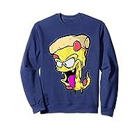 Pepperoni Pizza Monster Gift Shirts Sweatshirt Navy
