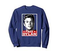 American Vandal Free Dylan Political Poster Premium T-shirt Sweatshirt Navy