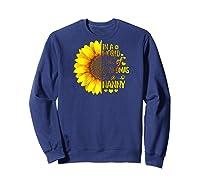 In A World Full Of Grandmas Be A Nanny Baseball Shirts Sweatshirt Navy
