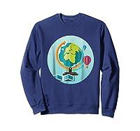 Science Design 4 Geography Travel T Shirt Sweatshirt Navy