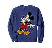 Disney Mickey Mouse Giggle T Shirt Sweatshirt Navy