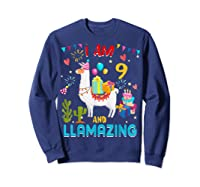 I Am 9 Years Old Zing Cute 9th Birthday Gift T-shirt Sweatshirt Navy