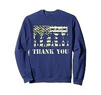 Thank You Veteran Dad Grandpa Veterans Day Gif Shirts Sweatshirt Navy