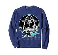 Saint Louis Missouri Route 66 Iconic Gateway Arch Souvenir T-shirt Sweatshirt Navy