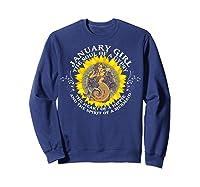 January Girl The Soul Of A Mermaid Tshirt Birthday Gifts Sweatshirt Navy