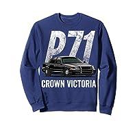 Police Car Crown Victoria P71 Shirt Sweatshirt Navy