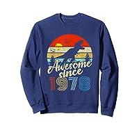 Dinosaur 41st Birthday Gifts Awesome 1978 41 Yrs Old Shirts Sweatshirt Navy