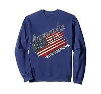 El Paso Strong Impeach Trump 45 Anti President American Map Shirts Sweatshirt Navy