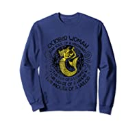 October Woman The Soul Of A Mermaid T Shirt Gift For  Sweatshirt Navy