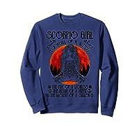 Scorpio Girl The Soul Of A Witch Tshirt Halloween Gift Sweatshirt Navy