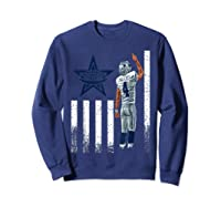 Cow Nation Of Legends American Flag For T Shirt Sweatshirt Navy