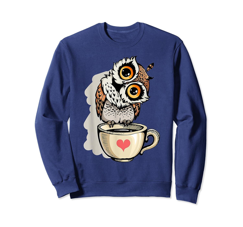 Cute Owl Cartoon Bird Hand Draw T Shirt Design Crewneck Sweater