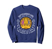 September Birthday September Girl The Soul Of A Gypsy Tshirt Sweatshirt Navy