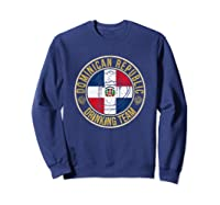 Funny Beer Dominican Republic Drinking Team Casual T-shirt Sweatshirt Navy