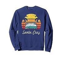 Santa Cruz Souvenir Retro Fun California Clothing Shirts Sweatshirt Navy