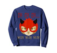Ch Ch Ch Meow Meow Halloween Scary Cat Gifts Shirts Sweatshirt Navy