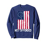 Betsy Ross American Flag Tshirt With 13 Stars For Protesters Sweatshirt Navy