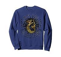 May Girl The Soul Of A Mermaid Tshirt Birthday Gifts Premium T Shirt Sweatshirt Navy
