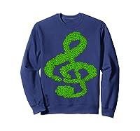 Music Note Shamrock Funny St Saint Patrick S Day T Shirt Sweatshirt Navy