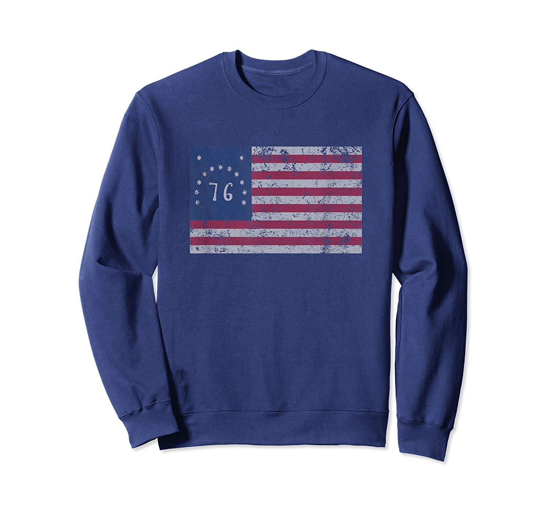 American Bennington Flag United States Of America 1776 Shirt Crewneck Sweater